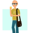 Young fashionable man with ice cream vector image vector image