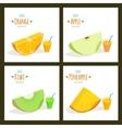 Fruit juices vector image