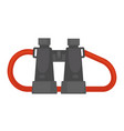 pair of binoculars with red rope isolated vector image