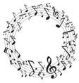 circle music notes vector image