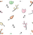 doddle flower leaf branch pattern vector image