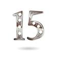 15 years anniversary celebration design vector image