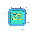 21 date calender icon design vector image vector image