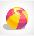 a cartoon ball for playing on the beach vector image vector image