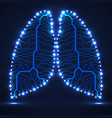 abstract human lung technology background vector image