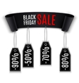Black realistic curved Ribbon vector image vector image