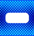 Blue halftone background with white banner for vector image vector image