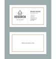 Business Card Design and Retro Style Template vector image