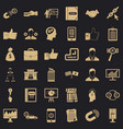 business training icons set simple style vector image vector image
