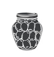 canned olives in glass jar vector image