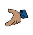 cartoon hand gloved hand part of body vector image