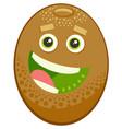 cartoon kiwi fruit character vector image vector image