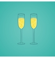 Champagne glass with abstract doodle pattern vector image vector image