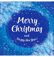 Christmas card poster banner with white fir