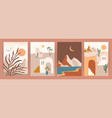 collection contemporary art prints with vector image