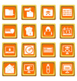 criminal activity icons set orange vector image vector image