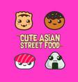 Cute asian street food icon