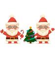 cute santa claus cartoon character set christmas vector image vector image