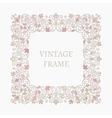Elegant retro varicolored floral square frame vector image vector image