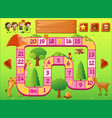 game template with kids and wild animals vector image vector image