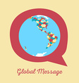 global message earth globe vector image