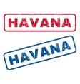 Havana Rubber Stamps vector image vector image