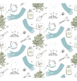 home plants or gardening seamless pattern vector image vector image