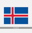 iceland icelandic national country flag banner ico vector image