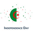 independence day of algeria patriotic banner vector image