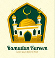 islamic ramadan eid mosque card banner template vector image