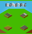 isometric road set of sand footer without strip