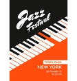 Jazz music festival vector image