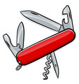 knife army or penknife multifunctional vector image