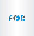 letter f blue black logo set icon vector image vector image