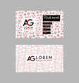 modern creative business card template with ag vector image vector image