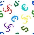 Money Swirl Seamless Flat Pattern vector image vector image