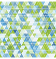 mosaic of triangles and contour drawing vector image