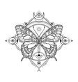 mystic insect tattoo engraving mystical spiritual vector image vector image