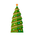 new year and christmas tree in flat design vector image