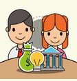 people analytics business vector image vector image