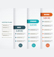 price list widget with 3 payment plans for online vector image