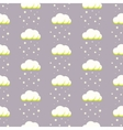 Rainy clouds on violet starry background vector image vector image