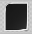 realistic photo frame vector image vector image