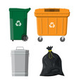 recycling and utilization equipment vector image vector image