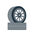 rubber wheel tire rim drive car vector image vector image