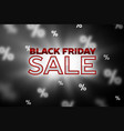 sale concept banner black friday vector image vector image