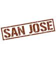San Jose brown square stamp vector image vector image