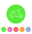 scooter motorbike motorcycle icon flat web sign vector image