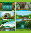 set forest background vector image vector image