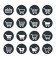 shopping carts icon set vector image